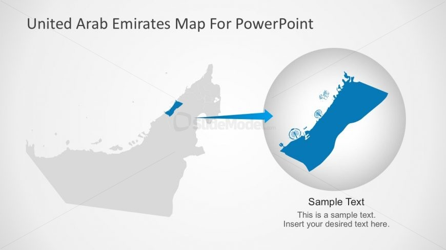 Uae editable map presentation slidemodel uae powerpoint maps template slides toneelgroepblik Choice Image