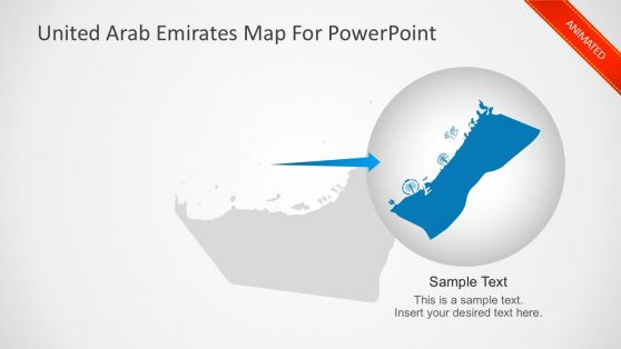 Animated Map of United Arab Emirates