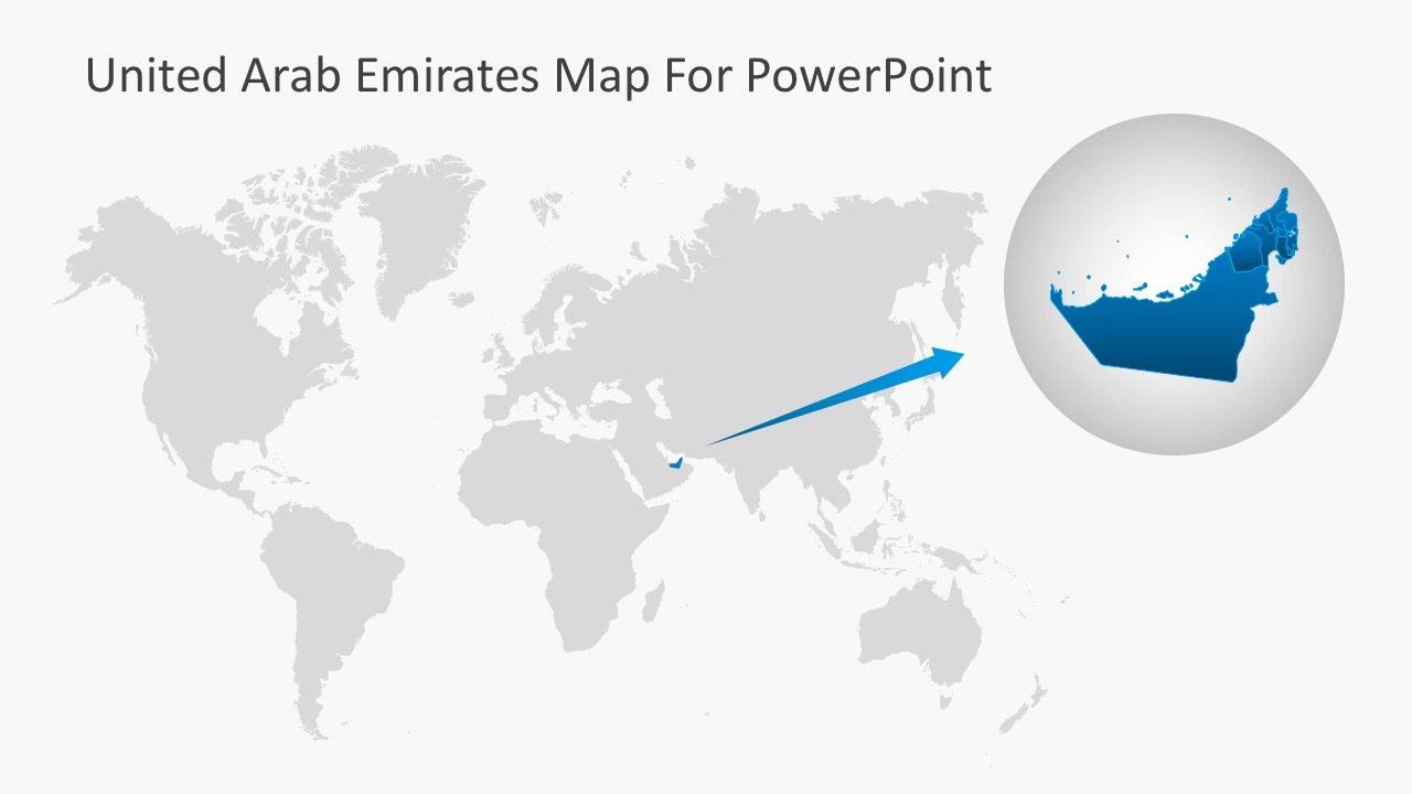 Picture of: Animated United Arab Emirates Powerpoint Map Slidemodel