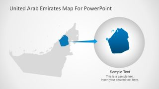 UAE Business Map for PowerPoint