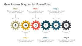 6 Step Gear Process Diagram Slide