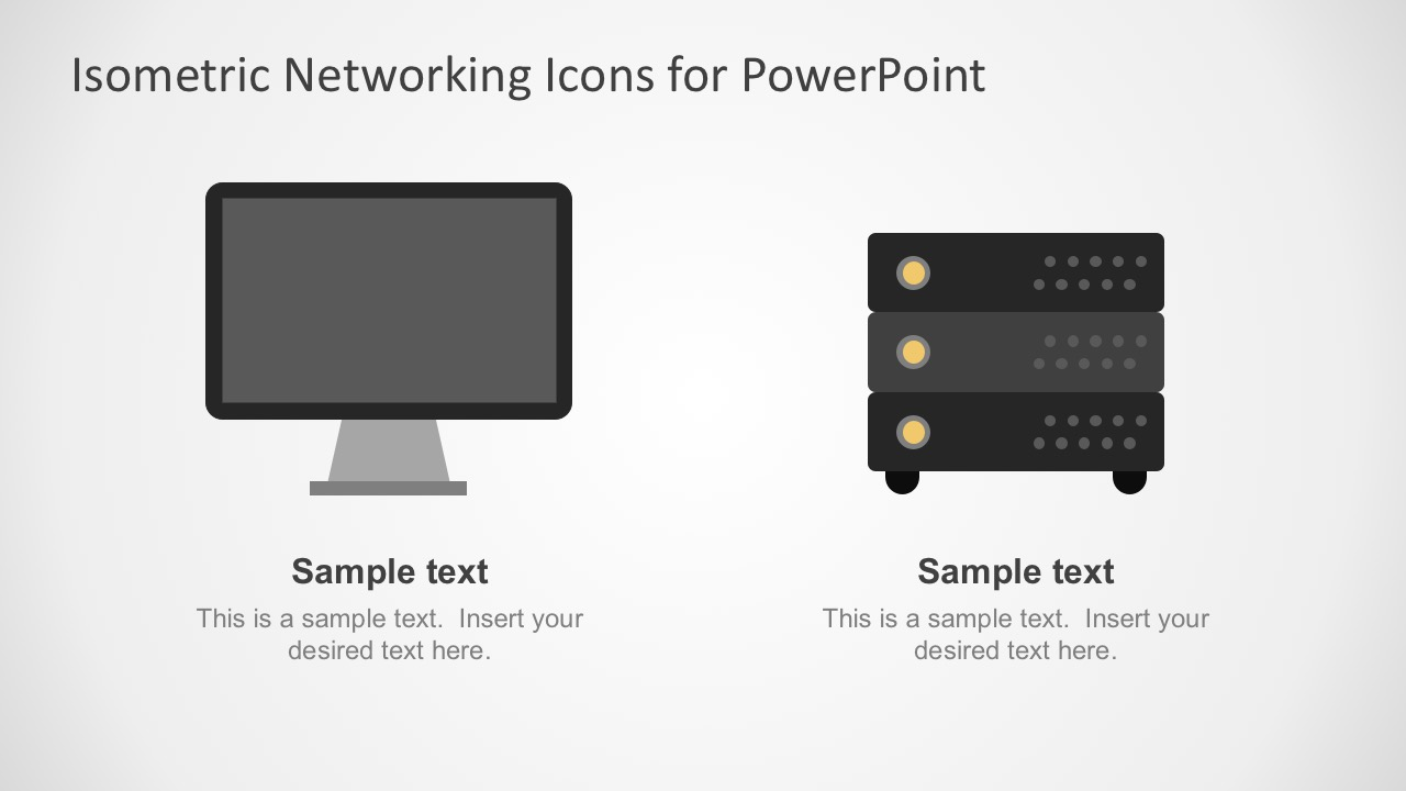 Isometric Computer Network Flat Icons