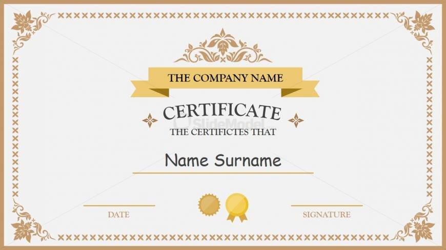PPT Quick Certificate Presentation