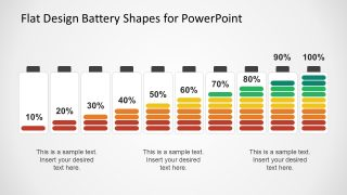 Flat Design Battery Shapes PowerPoint Theme