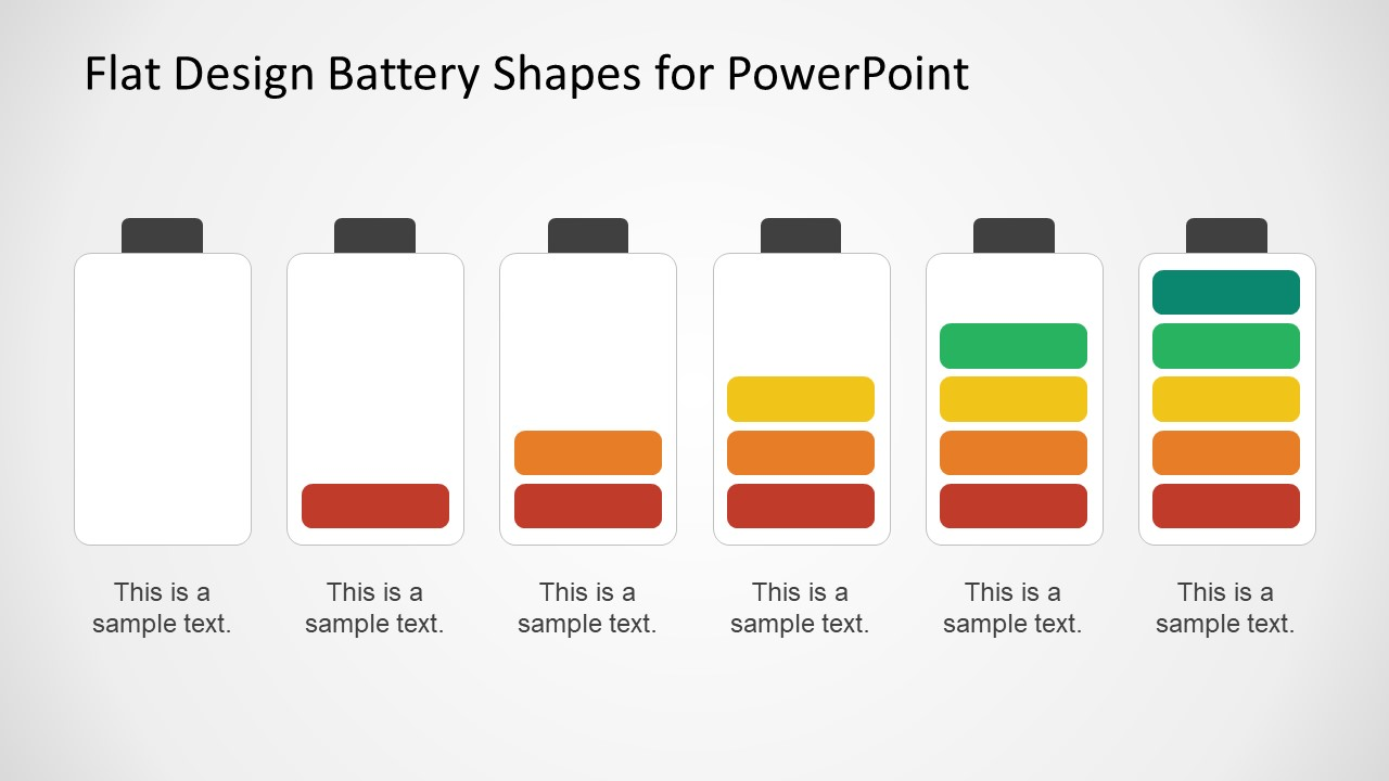 Empty to Full Battery Color Levels