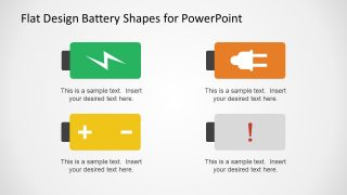 Flat Vector Power Battery Signs