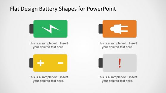 Batteries with Symbol Infographics