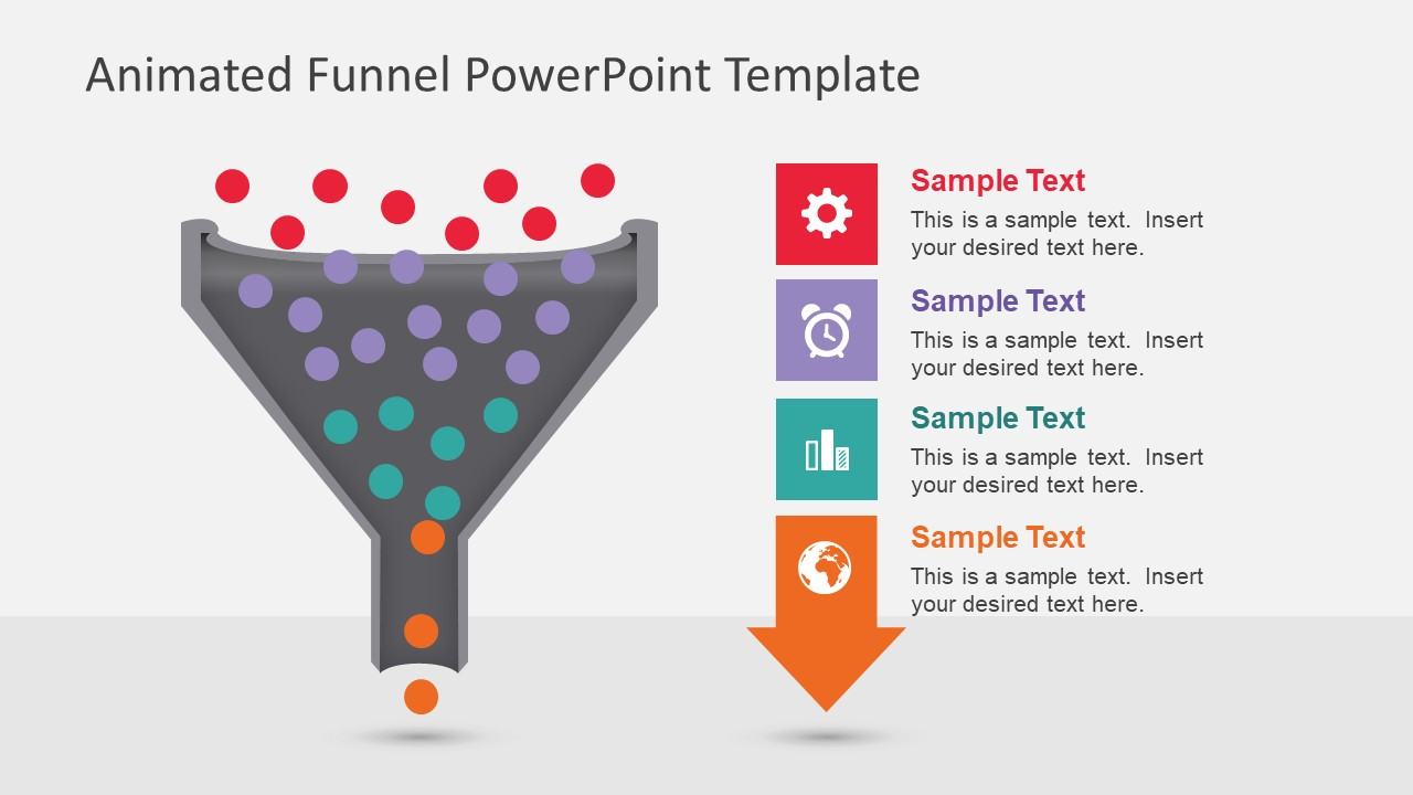 4 steps powerpoint templates animated funnel diagram for powerpoint toneelgroepblik Choice Image