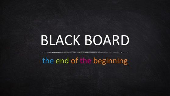 Colorful Font Blackboard PowerPoint