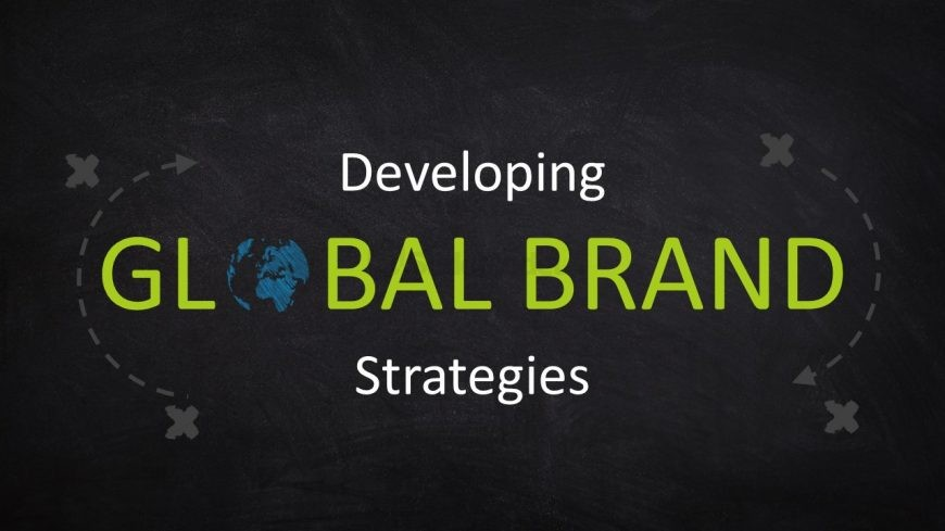 Global Brand Slide Blackboard Background