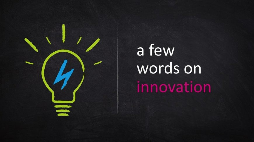 Light Bulb Innovative Idea Blackboard Template