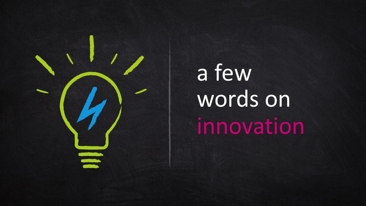 Light Bulb Innovative Idea Blackboard Template