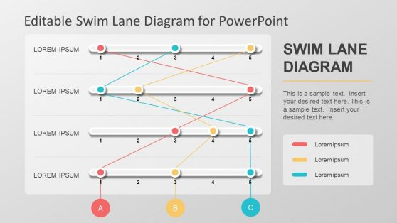 swim lane powerpoint diagrams, Modern powerpoint
