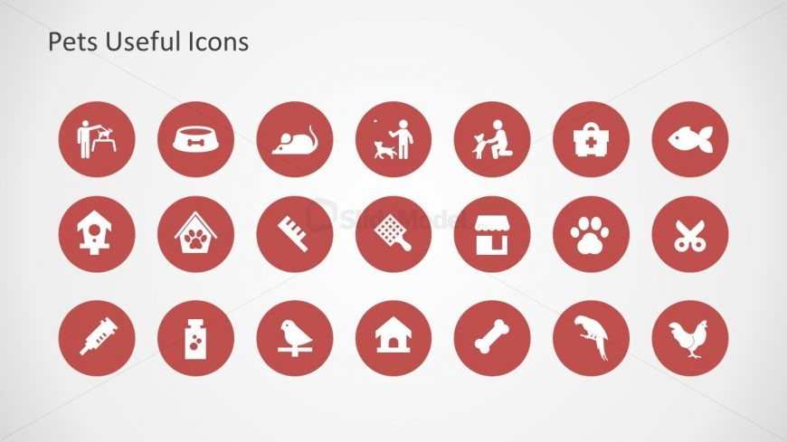 Pet Living Places Icon Template