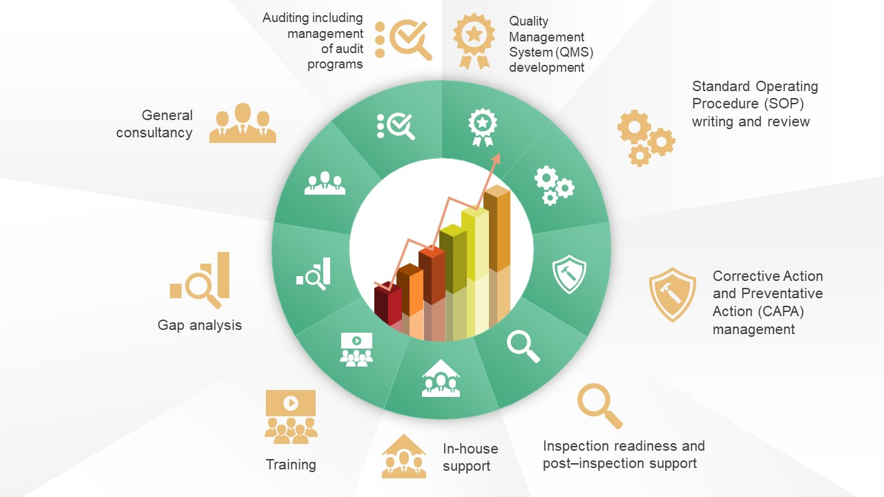 Quality management system powerpoint templates 9 steps circular diagram with service icons toneelgroepblik