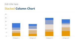 Editable Stacked Column Chart PPT