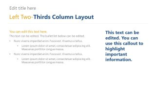 Tow Third Colum Bullet Points