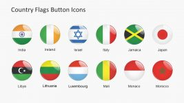 Circle Icon PowerPoint Flags