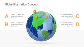 Globe Clipart PowerPoint Template Design