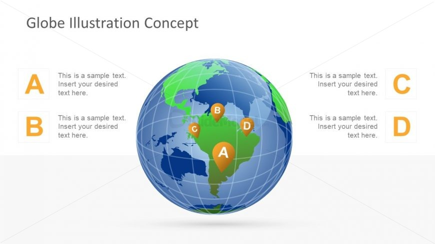 Editable PowerPoint Continent Shapes