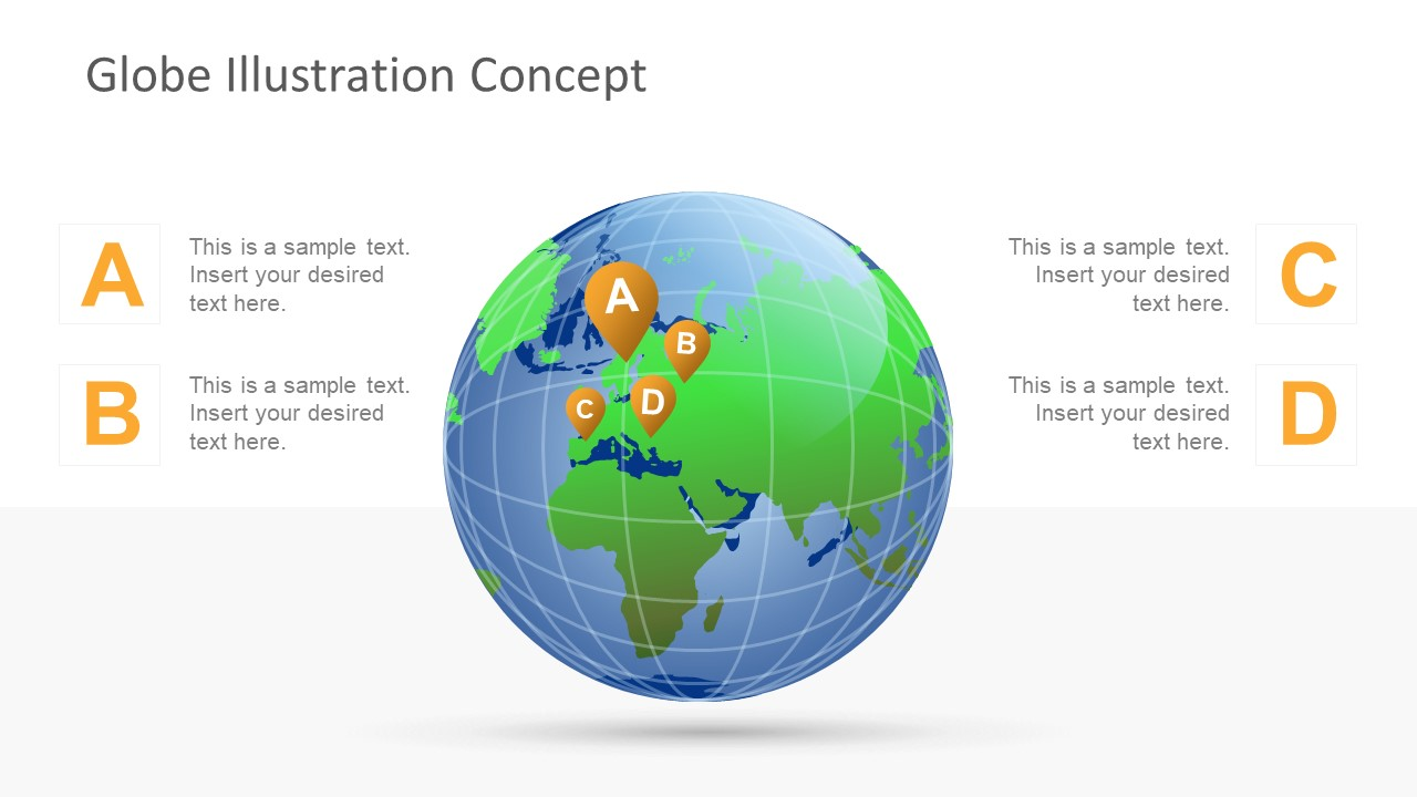 globe clipart powerpoint template design - slidemodel, Powerpoint templates