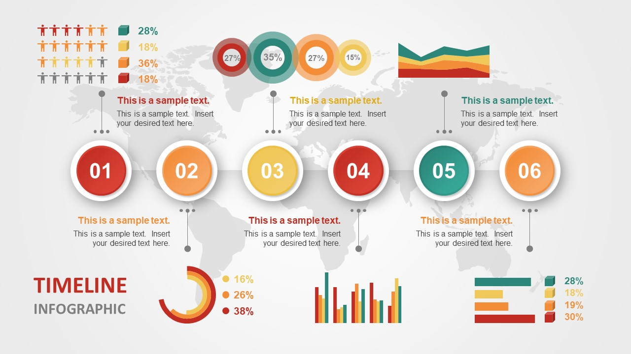 Animated Charts PowerPoint Business