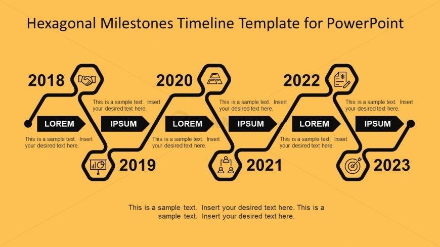 Hexagonal Milestone Infographic Icons