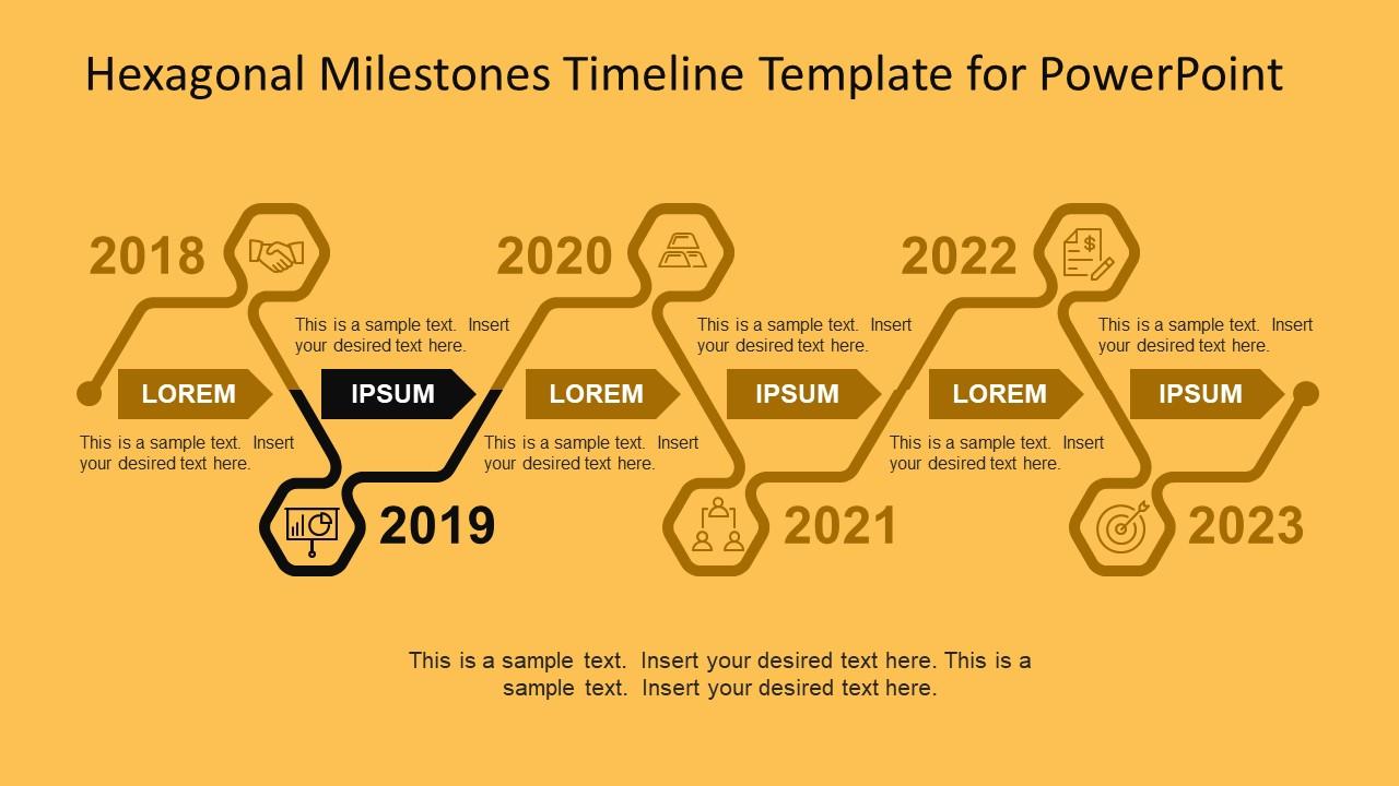 Hexagon Style PowerPoint Shape