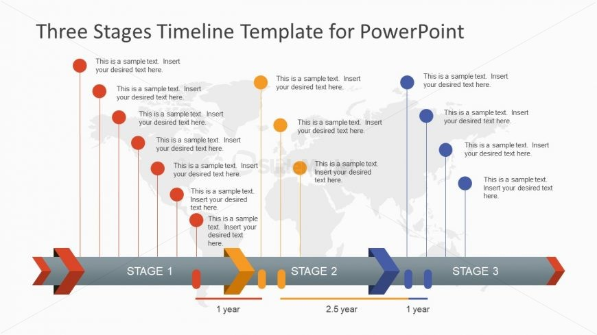 Project Timeline Three Stages  Slidemodel