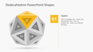 Editable Dodecahedron Shape Slide