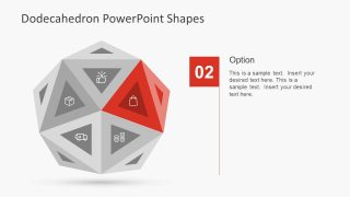 Red Triangle Shape in PPT