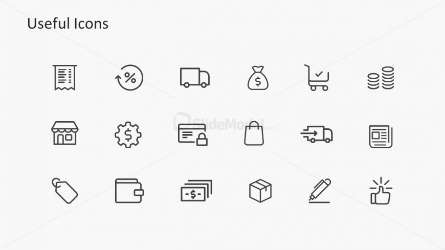Slide with Deck of Infographic Icons