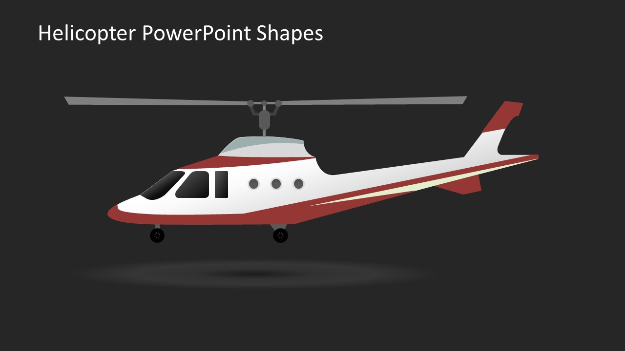 Helicopter powerpoint shapes slidemodel editable aircraft with wheels toneelgroepblik Gallery