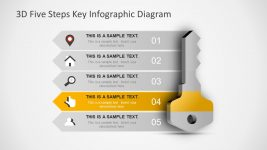 Five Steps 3D Key Shape in PowerPoint