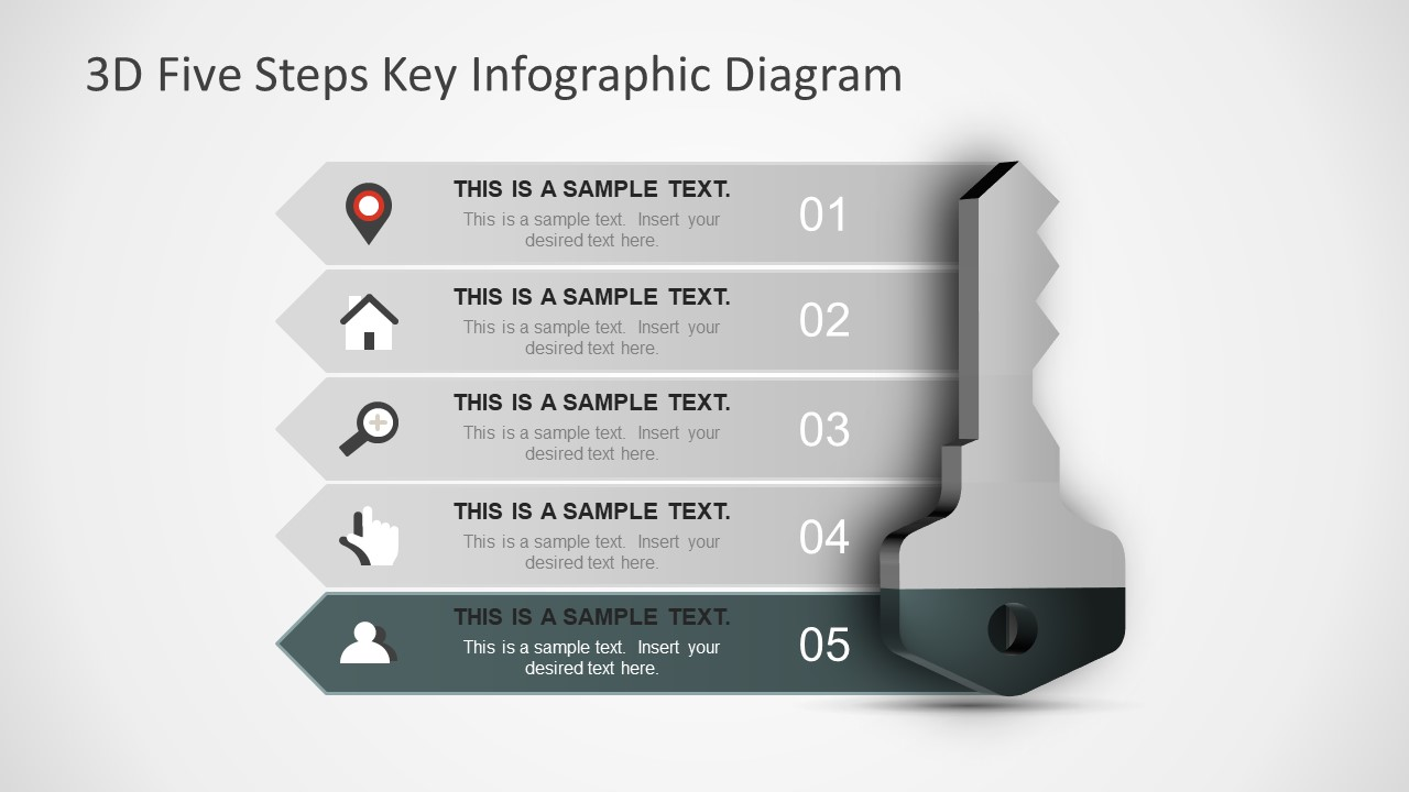 Key Concept Man Infographic Icon Slide