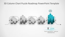 3D column Chart Roadmap Template