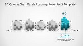 3D column Chart Roadmap Template