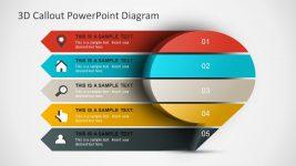3D Callout Diagram PowerPoint