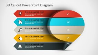 3D Callout PowerPoint Diagram