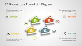 3D House Shape PowerPoint Diagram