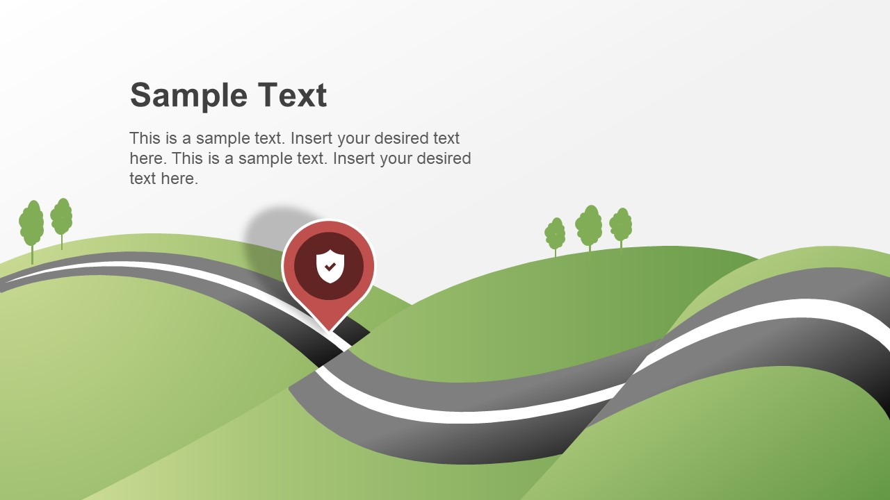 Roadmap Concept Map PowerPoint Theme on