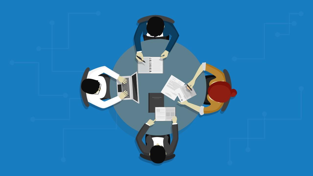 Top View Business Meeting Slide