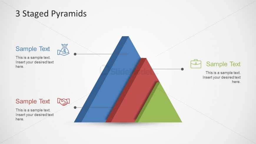 3 Stage Pyramid PowerPoint Template