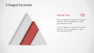3 Stage PowerPoint Template Pyramid