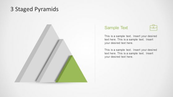 3 Stage PowerPoint Diagram Pyramid