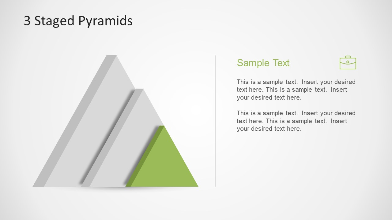 Infographic Pyramid Model Slide