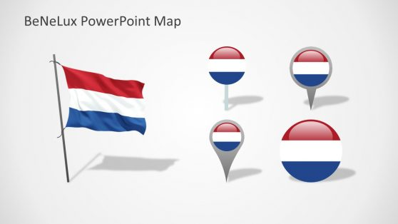 Netherlands Flag and Pin Markers Shapes