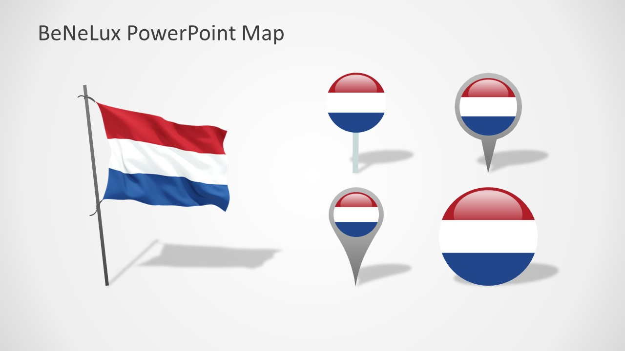 PowerPoint Shapes of Netherlands National Flag