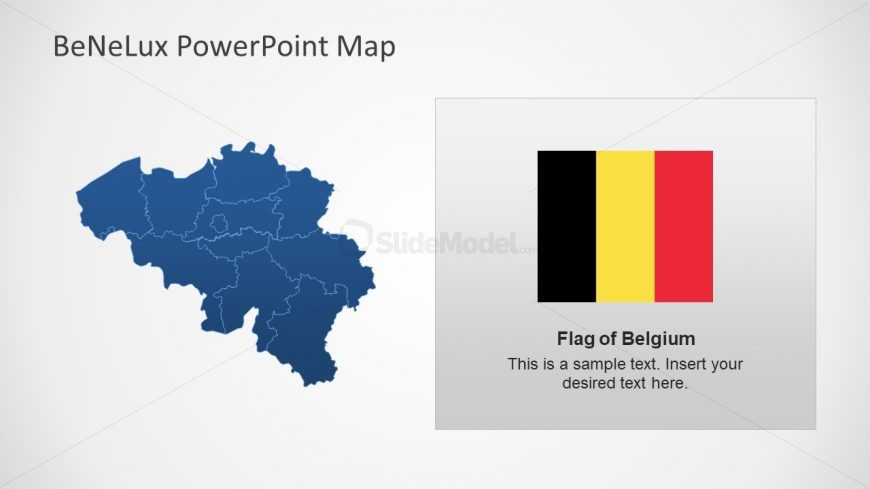 Outlined Map Shapes for Belgium