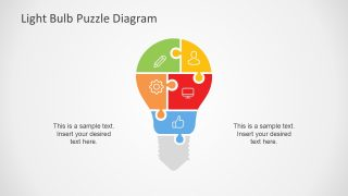 Jigsaw Puzzle PowerPoint Diagram